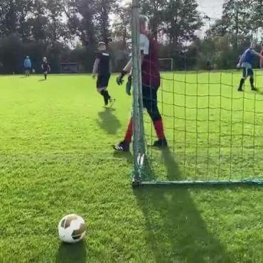 Speler op doel = slecht idee